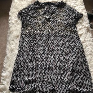 Lucky brand dress size large sheer material
